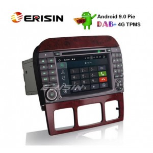 """Erisin ES7982S-64 7"""" Android 9.0 Car Stereo GPS DAB+ CD Mercedes Benz S/CL Class W220 W215 S500 CL55"""