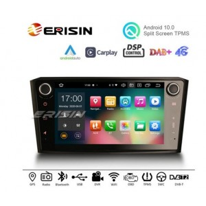 """Erisin ES8107A 8"""" Android 10.0 Car Stereo DSP Apple Carplay Android Auto OBD GPS DAB Radio for TOYOTA AVENSIS T25"""