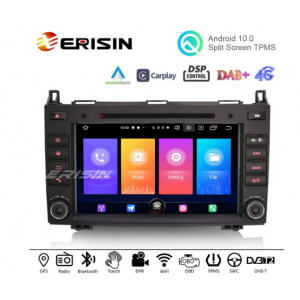 ES2721B 8 inch Android 10 Car Stereo DAB GPS DSP Carplay WiFi Mercedes-Benz A/B Class W169 Vito Viano Sprinter VW Crafter