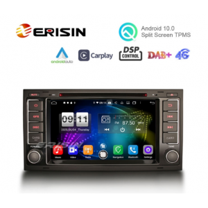 """Erisin ES8706TN 7"""" 8-Core Android 10.0 New Car Stereo Apple CarPlay Android Auto GPS TPMS DVR DTV For VW TOUAREG T5 Multivan"""